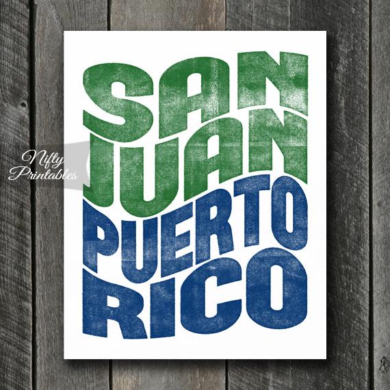 San Juan Print - Wave