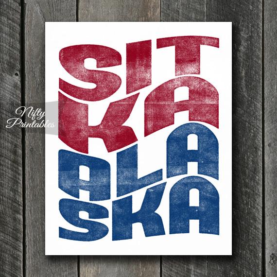 Sitka Print - Wave