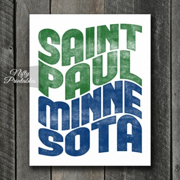St. Paul Print - Wave