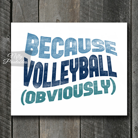 Volleyball Print - Because