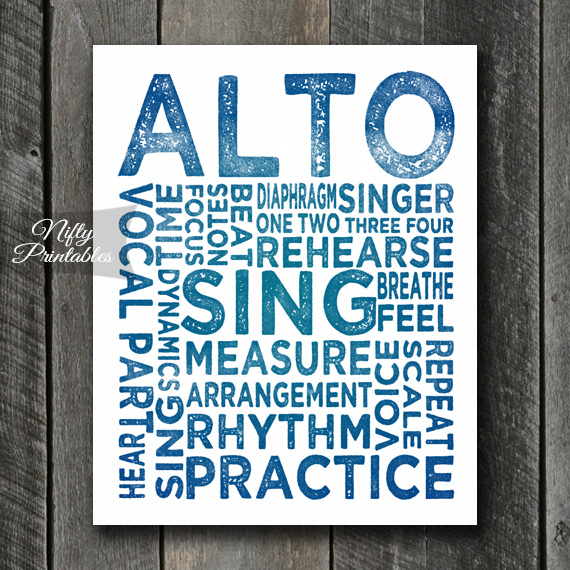 Alto Print Art - Music Typography