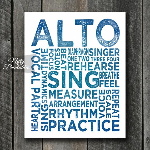 Alto Print Art - Music Typography