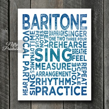 Baritone Print Art - Music Typography