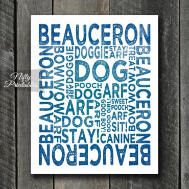 Beauceron Art Print - Dog Typography