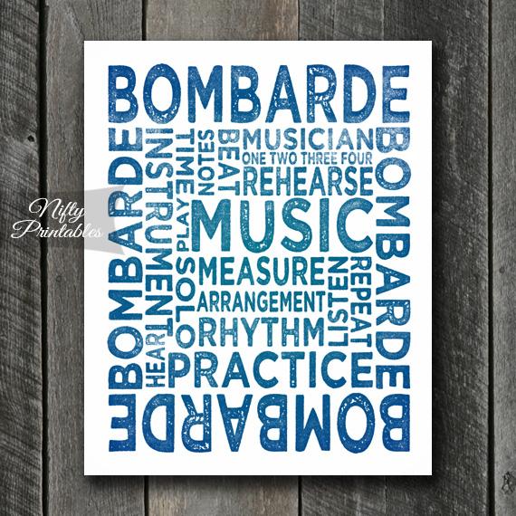 Bombarde Art - Typography