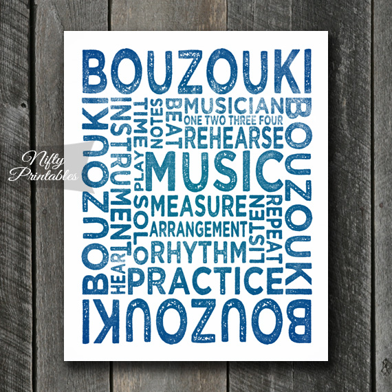 Bouzouki Art - Typography