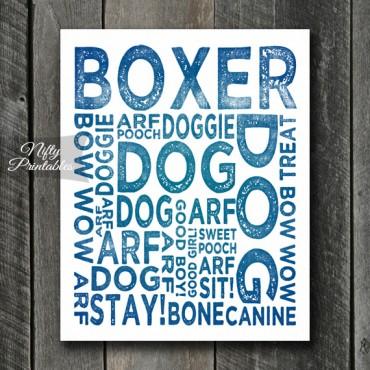 Boxer Art Print - Dog Typography