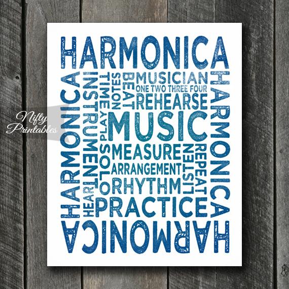 Harmonica Art - Typography