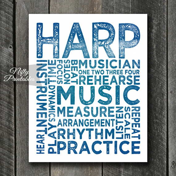 Harp Art - Typography
