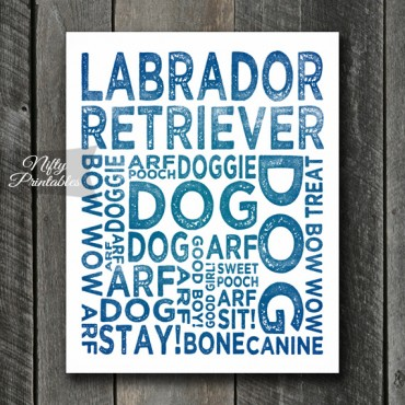 Labrador Art Print - Dog Typography