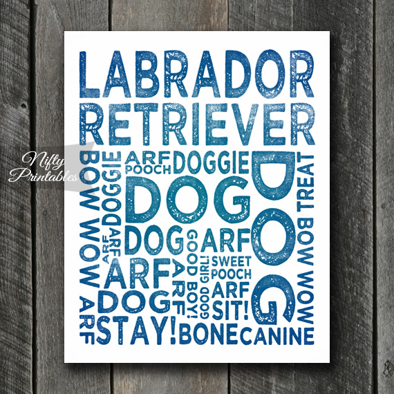 Labrador Art Print - Dog Typography
