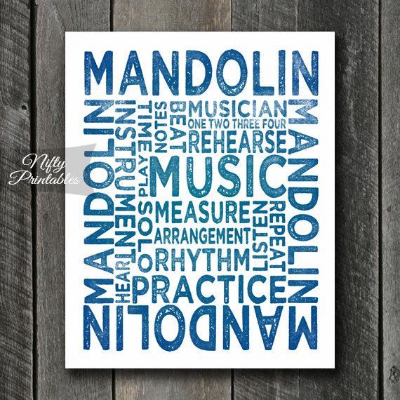 Mandolin Art - Typography