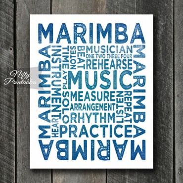 Marimba Art - Typography
