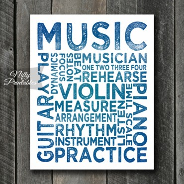 Music Print Art - Music Typography