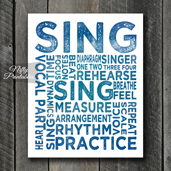 Singer Print Art - Music Typography
