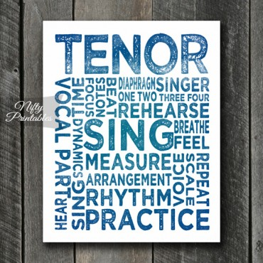 Tenor Print Art - Music Typography