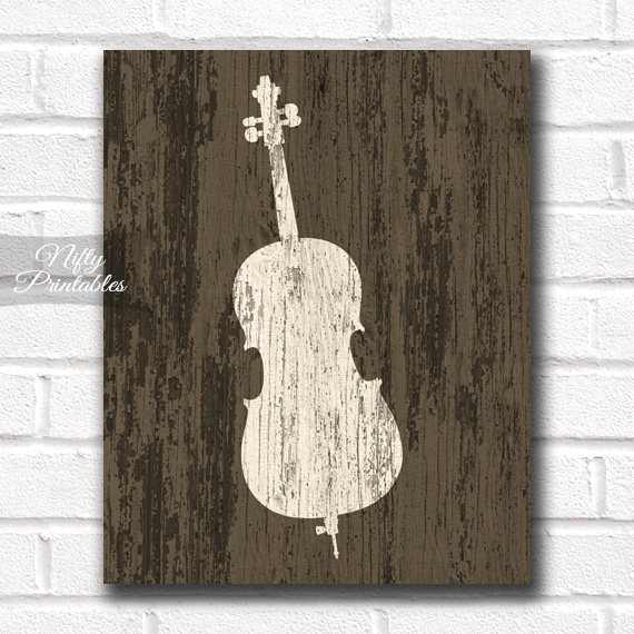 Cello Print - Rustic Wood