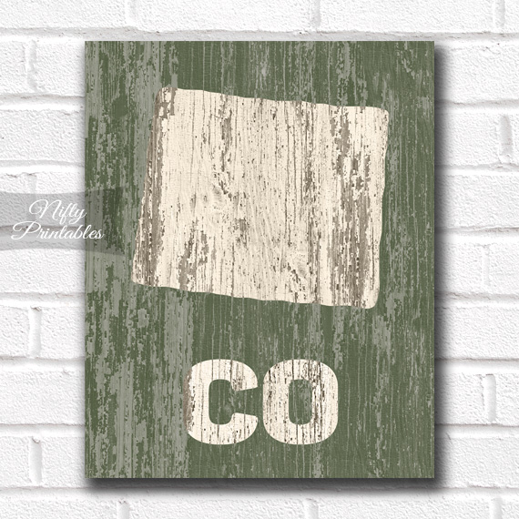 Colorado Print - Rustic Wood