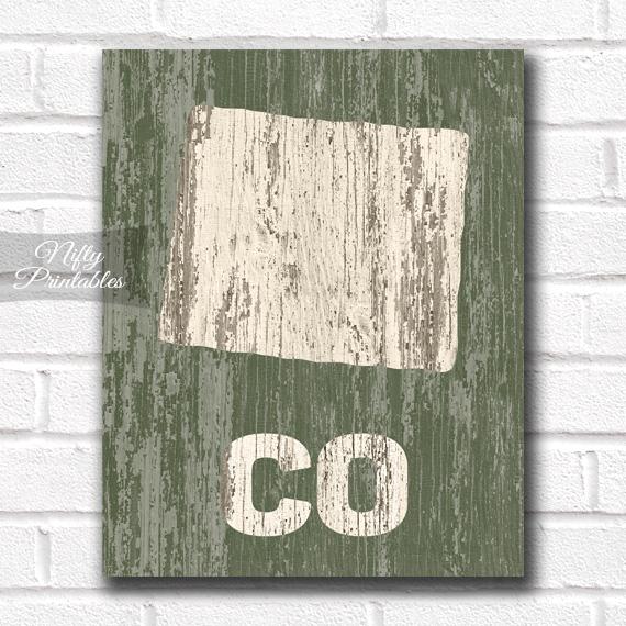 Colorado Print - Rustic Wood