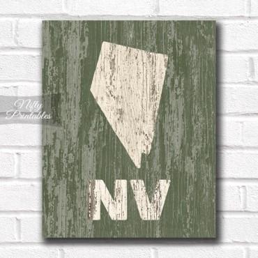 Nevada Print - Rustic Wood