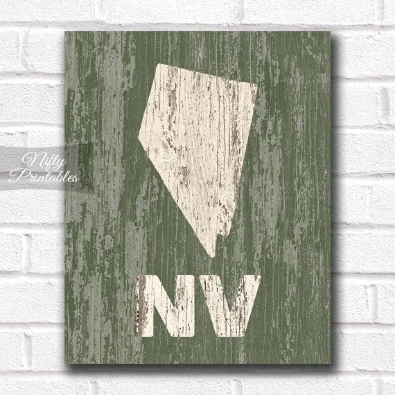 Nevada Print - Rustic Wood
