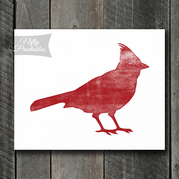 Cardinal Art - Shabby Ink