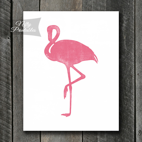 Pink Flamingo Art - Shabby Ink
