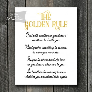The Golden Rule Art