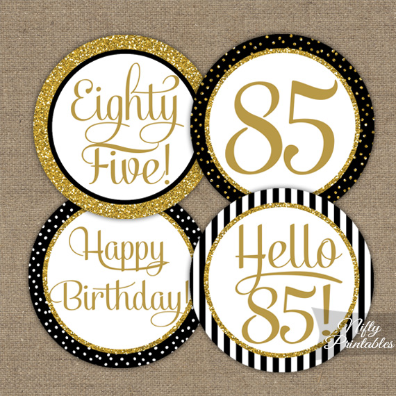 85th Birthday Cupcake Toppers