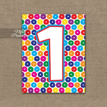 1st Birthday Sign - Colorful Fun