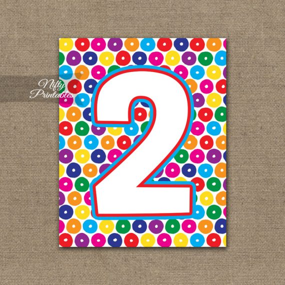 2nd Birthday Sign - Colorful Fun