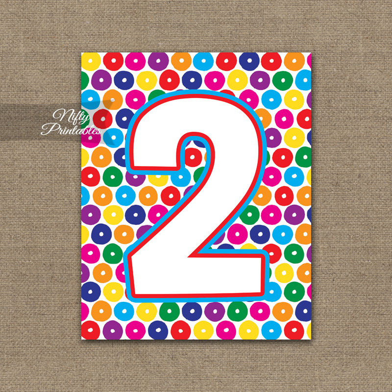2nd Birthday Sign - Colorful Fun