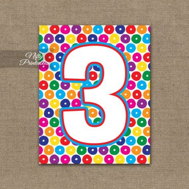 3rd Birthday Sign - Colorful Fun