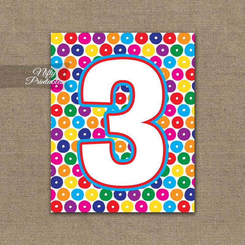 3rd Birthday Sign - Colorful Fun