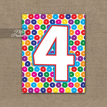 4th Birthday Sign - Colorful Fun