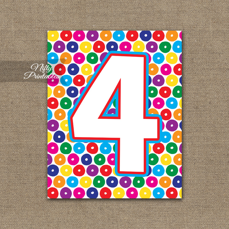 4th Birthday Sign - Colorful Fun