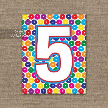 5th Birthday Sign - Colorful Fun