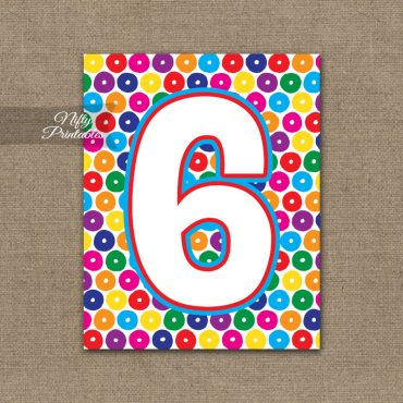 6th Birthday Sign - Colorful Fun