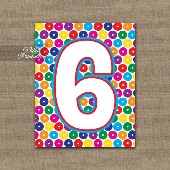 6th Birthday Sign - Colorful Fun