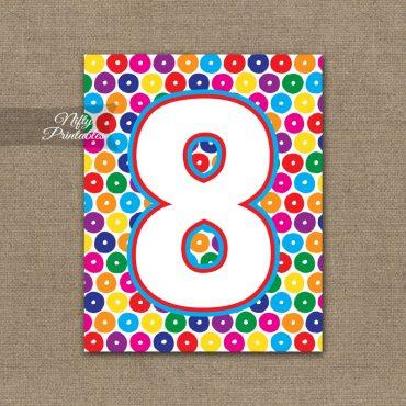 8th Birthday Sign - Colorful Fun