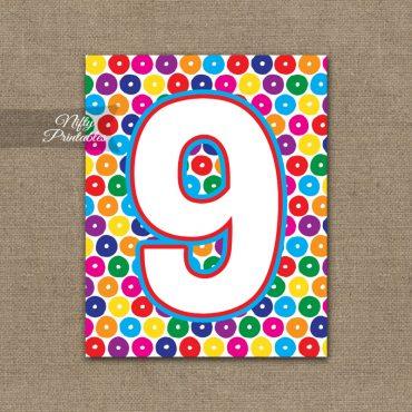 9th Birthday Sign - Colorful Fun