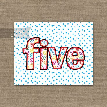 Fifth Birthday Sign - Colorful Fun