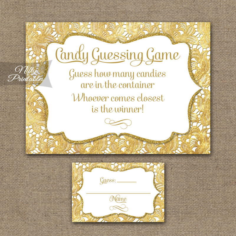 Candy Guessing Game - Gold Lace