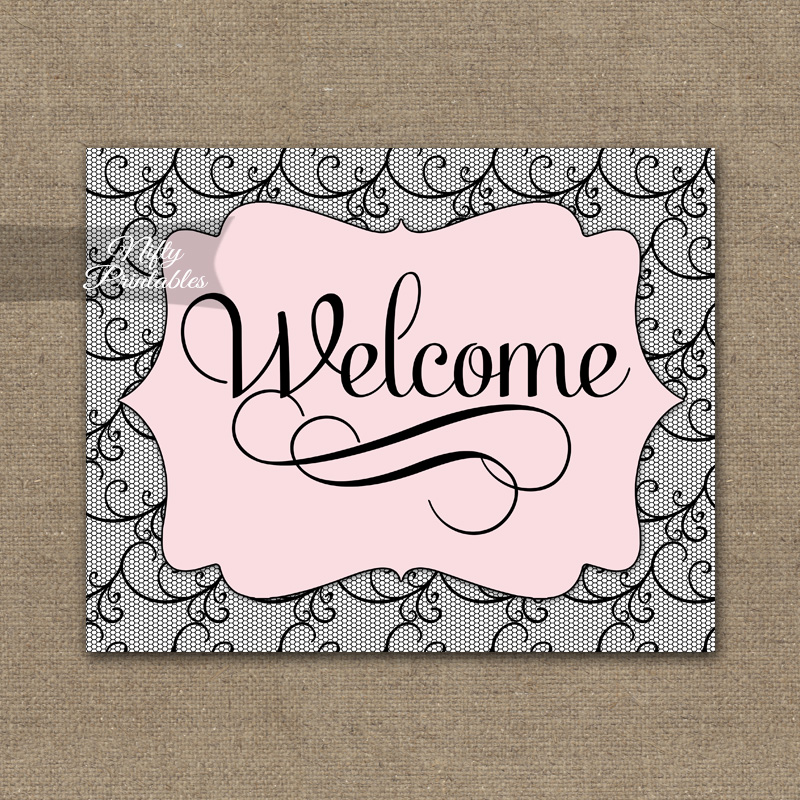 Eloquent image inside welcome sign printable