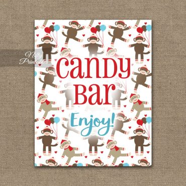 Candy Buffet Sign - Sock Monkey