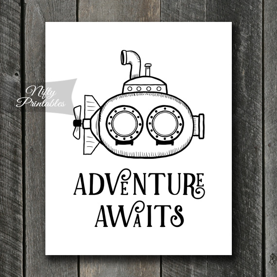 Adventure Submarine Print