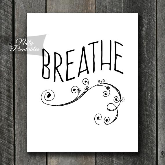 Breathe Swirl Print