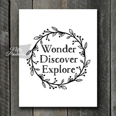 Wonder Discover Explore Wall Art