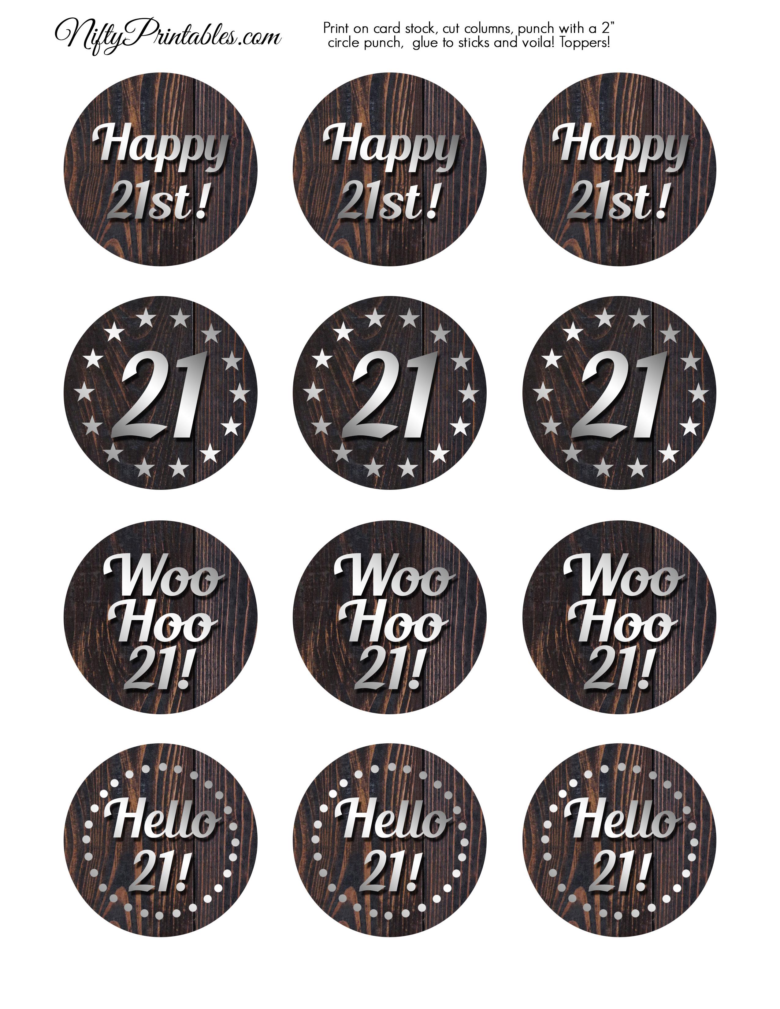 21st Birthday Cupcake Decorations Zwonzorg