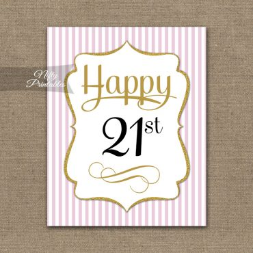 21st Birthday Sign - Pink Gold